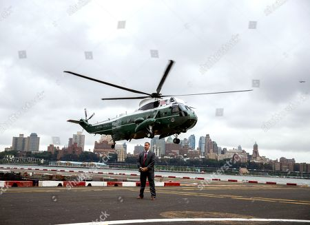 Donald Trump arrives in New York