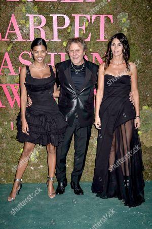 Stock Photo of Tina Kunakey di Vita, Renzo Rosso and Arianna Alessi