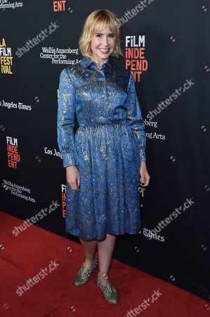 "Stock Photo of Andree Vermeulen attends a screening of ""All About Nina"" at the LA Film Festival, in Beverly Hills, Calif"