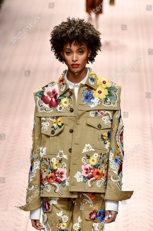 Editorial picture of Dolce & Gabbana show, Runway, Spring Summer 2019, Milan Fashion Week, Italy - 23 Sep 2018