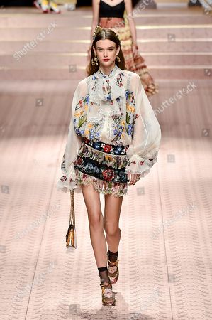 Stock Picture of Sara Dijkink on the catwalk