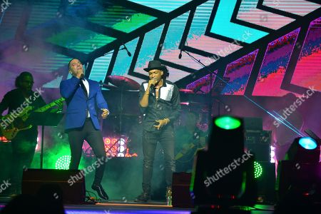 Alain Daniel and Descemer Bueno performs on stage