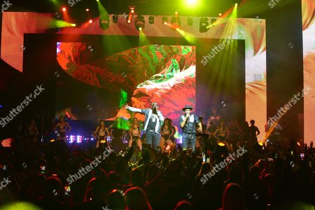 El Micha and Descemer Bueno performs on stage