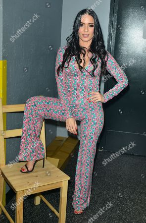 Stock Image of Diana Fuentes backstage