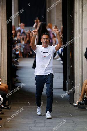 Cristiano Burani on the catwalk