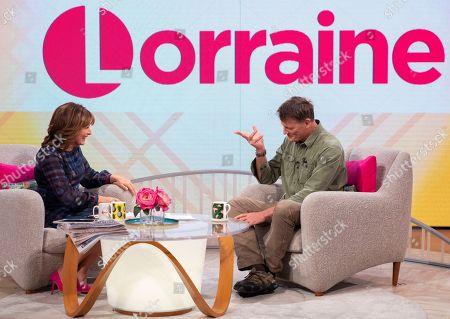 Stock Image of Lorraine Kelly and Benedict Allen