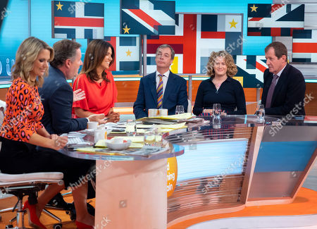 Stock Picture of Piers Morgan, Susanna Reid, Nigel Farage, Grace Campbell and Alastair Campbell