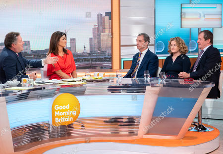 Stock Photo of Piers Morgan, Susanna Reid, Nigel Farage, Grace Campbell and Alastair Campbell