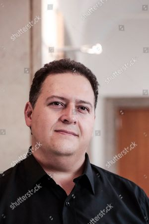 The author and architect Sebastian Marroquin, born as Juan Pablo Escobar, son of Pablo Escobar, during a press conference for 'Pablo Escobar, Una storia da non ripetere ' at the foreign press association headquarters in Rome