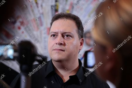 Editorial image of Sebastian Marroquin press conference, Rome, Italy - 20 Sep 2018