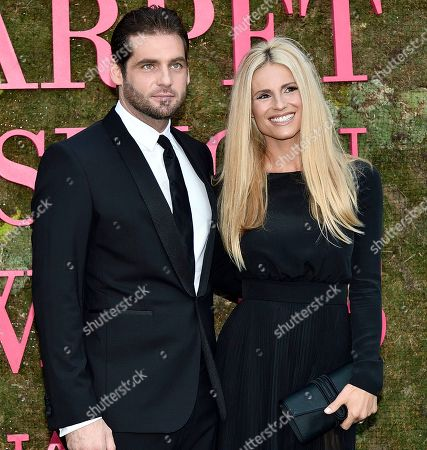 Tomaso Trussardi with wife Michelle Hunziker