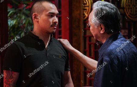 Stock Image of Peter Lau as Choi Huang and Jason Wong as Kai Huang.