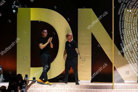 Domenico Dolce and Stefano Gabbana on the catwalk