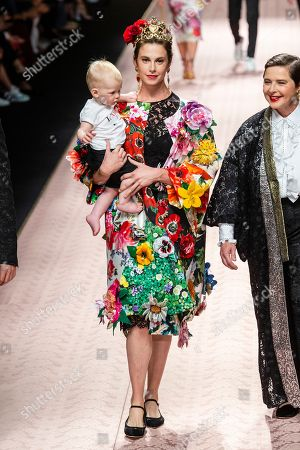 Stock Photo of Isabella Rossellini and Elettra Rossellini Wiedemann on the catwalk