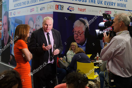 Sky TV presenters Kay Burley with Adam Boulton