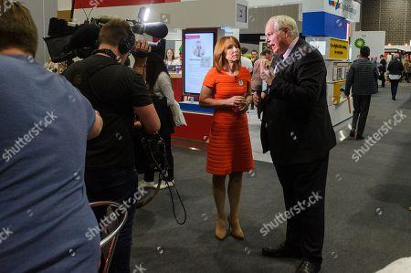 Sky TV presenters Kay Burley with Adam Bolton