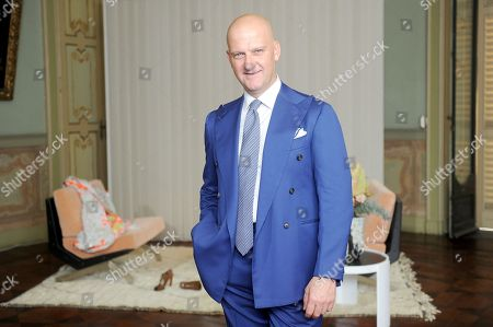 Editorial picture of Santoni show, Presentation, Spring Summer 2019, Milan Fashion Week, Italy - 20 Sep 2018