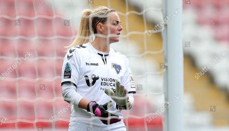 Goalkeeper Hannah Reid of Durham