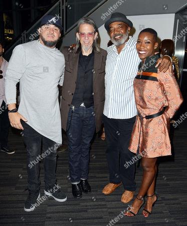 Stock Image of DJ Felli Fel, Scott Goldman, Michael Mauldin, Nwaka Onwusa