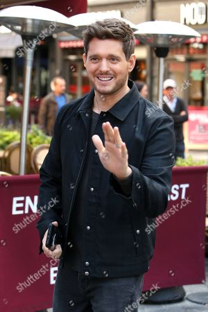 Michael Buble out and about, London