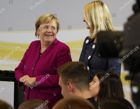 Editorial image of German Chancellor Merkel talks to young adults, Hanover, Germany - 24 Sep 2018