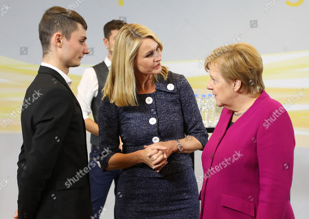 Editorial picture of German Chancellor Merkel talks to young adults, Hanover, Germany - 24 Sep 2018