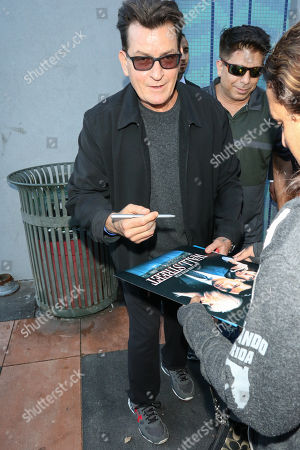 Charlie Sheen out and about, Los Angeles