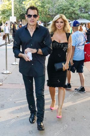 Donna D'Errico and Don Friese out and about, Los Angeles