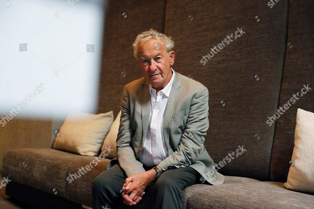 British historian Simon Schama poses for the photographer during an interview with Spanish News Agency Agencia EFE on the occasion of the presentation of the second volume of his book 'The Story of the Jews', in Madrid, Spain, 24 September 2018.