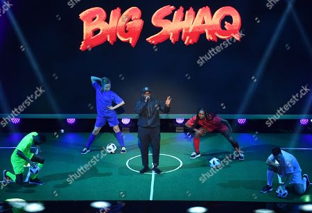 British actor, rapper, and comedian Michael Dapaah performs during the Best FIFA Football Awards 2018 in London, Great Britain, 24 September 2018.