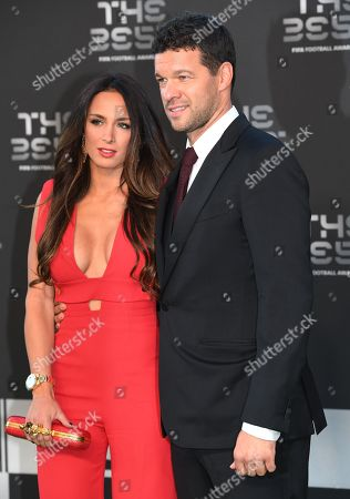 Former Germany captain Michael Ballack and his girlfriend Natacha Tannous arrive  for the Best FIFA Football Awards 2018 in London, Great Britain, 24 September 2018.