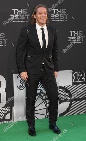 Former Real Madrid player Michel Salgado arrives for the Best FIFA Football Awards 2018 in London, Britain, 24 September 2018.