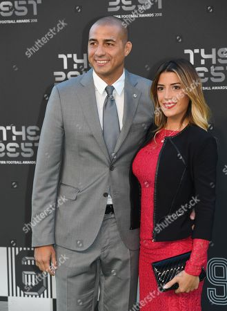 Stock Photo of Former French international David Trezeguet (L) and an unidentified companion arrive for the Best FIFA Football Awards 2018 in London, Britain, 24 September 2018.