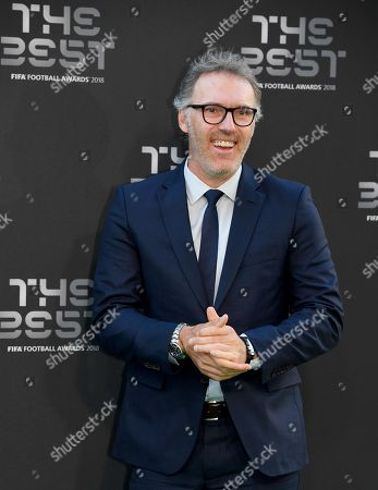French soccer manager, Laurent Blanc arrives for the Best FIFA Football Awards 2018 in London, Great Britain, 24 September 2018.