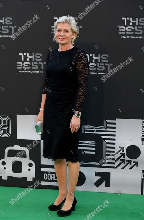 Former German women's team coach Silvia Neid arrives for the Best FIFA Football Awards 2018 in London, Great Britain, 24 September 2018.