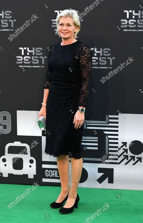 Silvia Neid, former head coach of the of the Germany women's national football team,  arrives for the Best FIFA Football Awards 2018 in London, Great Britain, 24 September 2018.
