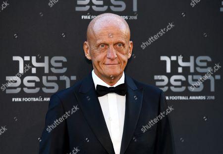 Former Italian referee Pierluigi Collina arrives for the Best FIFA Football Awards 2018 in London, Great Britain, 24 September 2018.