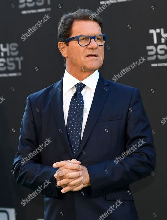 Former England, AC Milan, AS Roma and Real Madrid head coach Fabio Capello arrives for the Best FIFA Football Awards 2018 in London, Great Britain, 24 September 2018.