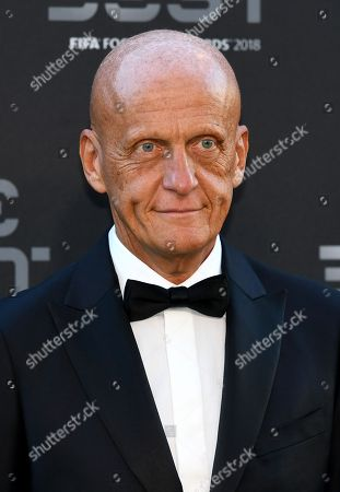 Former Italian referee Pierluigi Collina arrives for the Best FIFA Football Awards 2018 in London, Great Britain, 24 September 2018.  A
