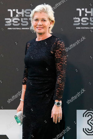 Stock Image of Former German women's team coach Silvia Neid arrives for the ceremony of the Best FIFA Football Awards in the Royal Festival Hall in London, Britain