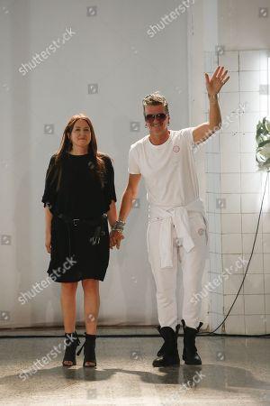 An Vandevorst and Filip Arickx on the catwalk