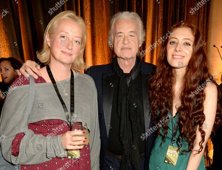 Scarlet Page, Jimmy Page and Scarlett Sabet