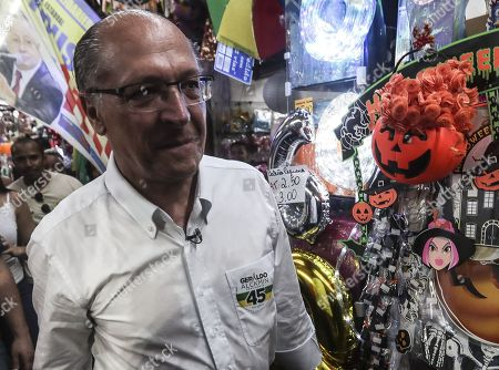 The candidate for the Presidency of Brazil for the Social Democratic Party of Brazil (PSDB) Geraldo Alckmin participates in a campaign event in the northern area of the city of Rio de Janeiro, Brazil, 24 September 2018. General election in Brazil will take place on 07 October 2018.