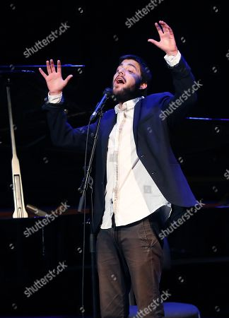 Portuguese singer Salvador Sobral performs during a concert at Teatro Nuevo Apolo in Madrid, Spain, 24 September 2018.