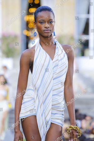 Mayowa Nicholas on the catwalk