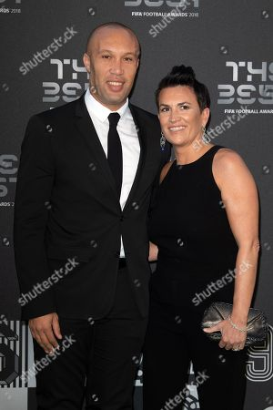 Mikael Silvestre and his wife Severine