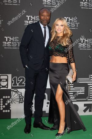 Stock Photo of William Gallas and his wife Nadege