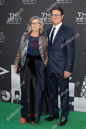Football manager Fabio Capello and his wife Laura