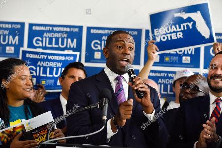 Gubernatorial Candidate Andrew Gillum campaigning, Miami