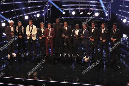 Ronaldinho, Daniel Alves, Sergio Ramos, Luka Modric, Eden Hazard, Kylian Mbappe, Pepe, N'Golo Kante, Marcelo, Raphael Varane